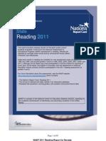 2011 NV NAEP Reading Results