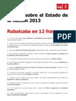 Rubalcaba en FRASES. Debate Estado Nación
