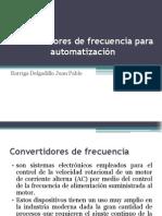 Convertidores de frecuencia para automatización