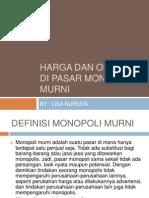 Harga Dan Output Di Pasar Monopoli Murni Revisi