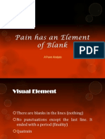 Pain Has an Element of Blank