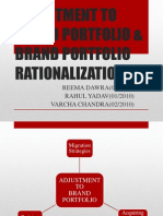 Adjustment to Brand Portfolio & Brand Portfolio Rationalization