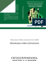 OPN - Ciudadanía, política y poder