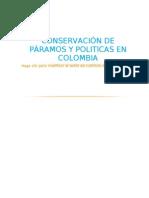 Conservación y legislación de Páramos