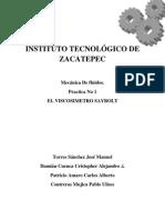 PRACTICA 1 Viscosimetro Saybolt