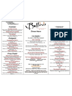 Bellini's Main Menu