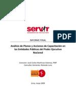 Machicao - Analisis de Planes y Acciones de Capacitacion Poder Ejecutivo