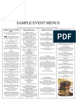 Iz Catering Sample Menus