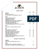 La Dolce Vita Wine List