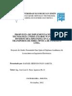 Implementación de la Tecnologia CWDM En La Red De Transporte De Fibra Óptica De COMTECO Ltda.
