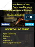 A Research on the Use of Social Network by Employees