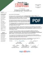 Crime Stoppers Auction Donation Request Form