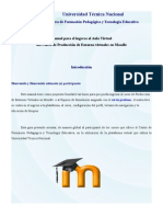 Manual de Producción de Entorno Virtuales en Moodle