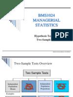 Hypothesis Testing II