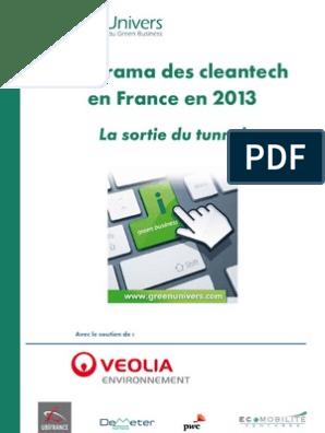 Greenunivers Panorama Des Cleantech 2013 1 énergie