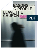 Six Reasons Young People Leave the Church