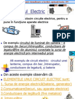Elemente de Circuit Electric Clasa6