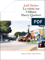 La Verite Sur l'Affaire Harry Quebert - Joel Dicker