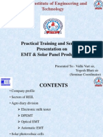 Presentation on emt &solar panel production