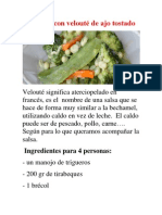 Verduras con velouté de ajo tostado