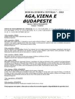 10 Praga, Viena e Budapeste 2013 - Folheto
