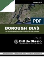 DeBlasio Borough Bias Report