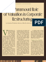 Valuation in Corporate Restructurings