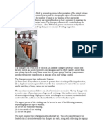 A Tap Changer is a Device Fitted to Power Transformers for Regulation of the Output Voltage to Required Levels