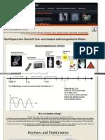 Strahlenfolter - Übersicht über verschiedene elektromagnetische Wellen - neinsiesindnichtbekloppt_de