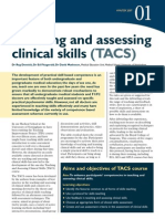 Teaching and Assessing Clinical Skills (TACS), University of Nottingham Medical School Course Review