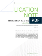 EDIUS and Sandy Bridge Application Note