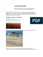 Agentes de erosión del suelo