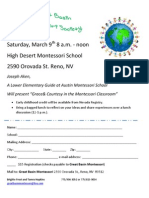 Great Basin Montessori Society Flyer