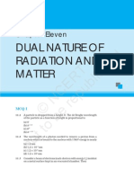 Dual Nature of Radiation and Matter
