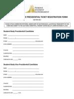 President & VP Ticket Registration Form