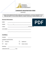 Senate Registration Form