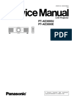 PANASONIC PT-AE3000 SERVICE MANUAL