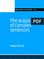 Acquisition of Complex Sentences