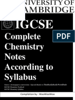 Chemisty IGCSE Updated Till Syllabus
