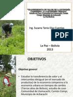 Transferencia del valor de la Economía Campesina a la Economía Urbana