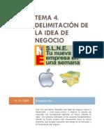 TEMA 04 DELIMITACIÓN DE LA IDEA DE NEGOCIO