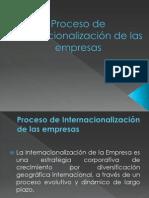 Proceso de internacionalización de las empresas