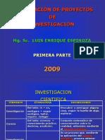 1 Formulacion de Proyectos de Investigación 1ra Parte A