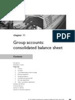 FA Chapter 11 Group Accounts Consolidated Balance Sheet