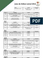 Cronograma Da Esfera Laical 2013