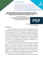 Un Analisis Critico-H Arroyo,I Barrantes,J Vega