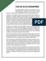 PAVIMENTOS DE ALTO DESMPEÑO