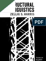 Zellig Harris. Structural Linguistics