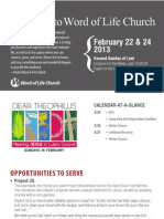 Church Bulletin for February 22 & 24, 2013