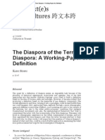 The Diaspora of the Term Diaspora_ a Working-Paper of a Definition